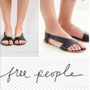 Free People black sandals